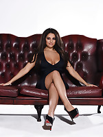 Charley S British Glamour Model - Charley Teasing In Black Lingerie On The Sofa