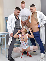 Three Cocks One Mouth: Horny Nurse Blows Doctors And Patient free photos and videos on OnlyBlowJob.com
